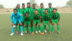Hsaacas Ladies line up in the 2015 NWC Finals