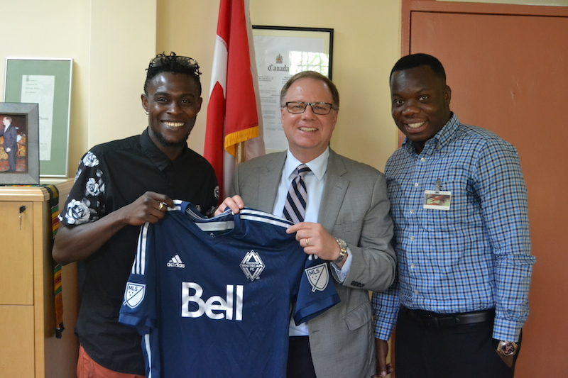 Gershon Koffie, High Commissioner Christopher Thornley and Roland Nii Akwa Nunoo.