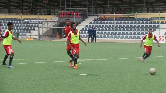 WAFA SC training for Hearts of Oak visit on Saturday.