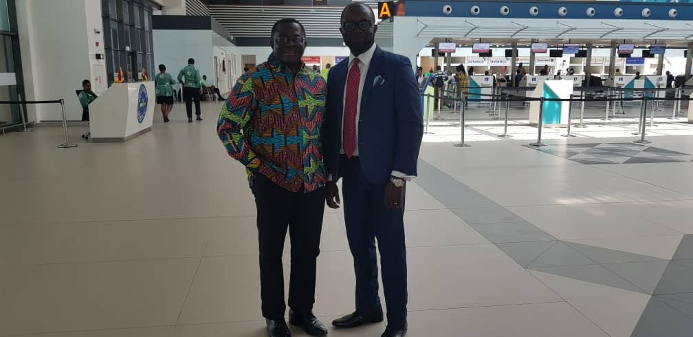 GOC President sees off GFA President as he departs for Egypt to support Black Meteors