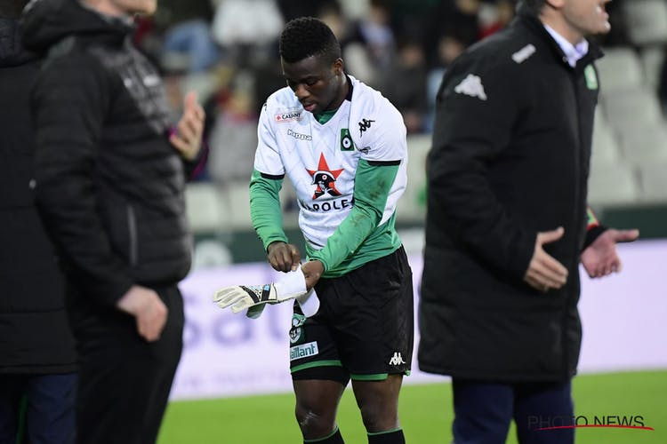 Midfielder Godfred Donsah was forced to become a goalkeeper after Cercle Brugge keeper suffered injury