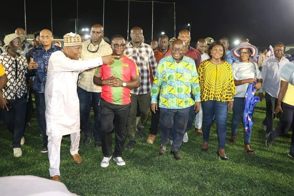 President Akufo-Addo lauds Wembley Sports Construction for Madina artificial park