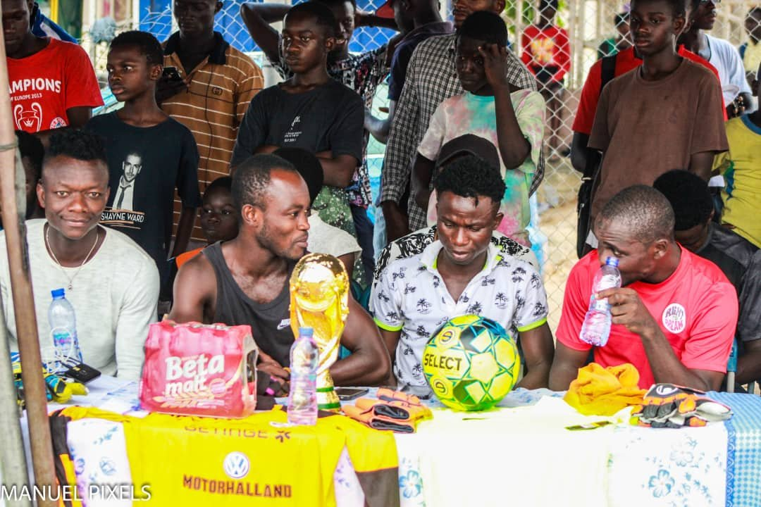 Halmstads BK midfielder Thomas Boakye celebrates Christmas with youth in his hometown