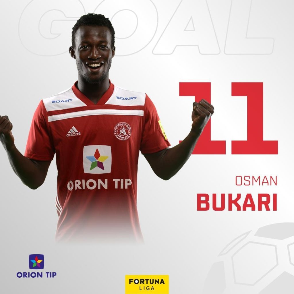Osman Bukari nets hat-trick, provides two assists to inspire AS Trenčín to maul  Michalovce 8-1