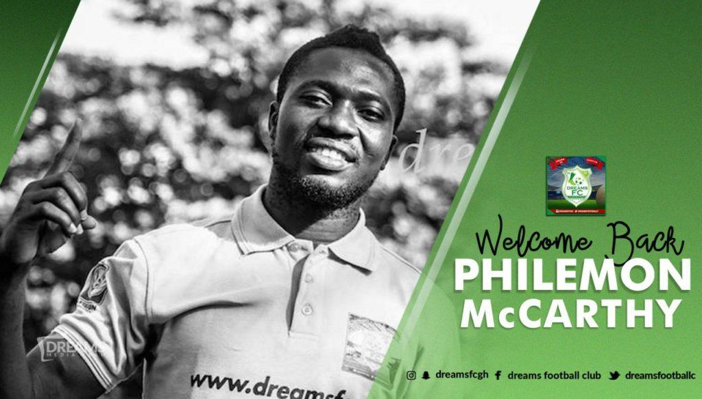 Experienced goalkeeper Philemon McCarthy rejoins Dreams FC