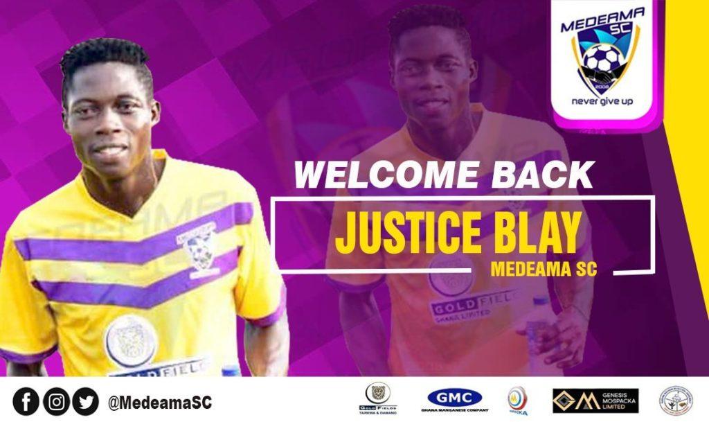 Justice Blay returns to Medeama after impressing on loan at Asante Kotoko