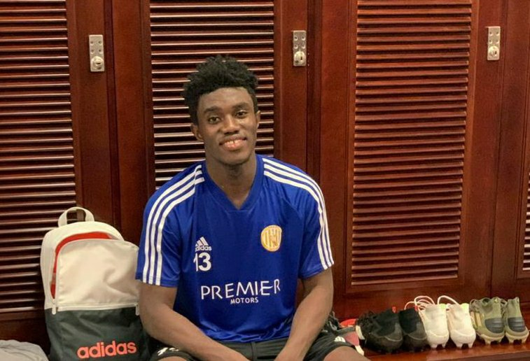 Ghanaian starlet Richard Akonnor training with Al-Jazira FC ahead of UAE Pro League season