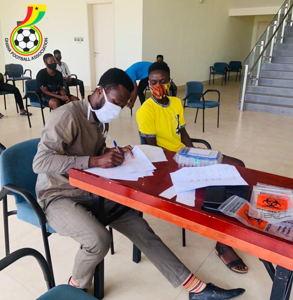 Players and officials underwent Covid-19 tests at the camp