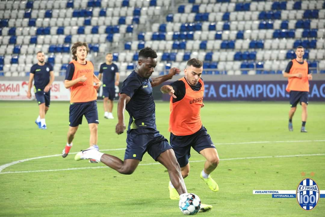 Winful Cobbinah in final preparations with KF Tirana ahead of UEFA Champions League qualification