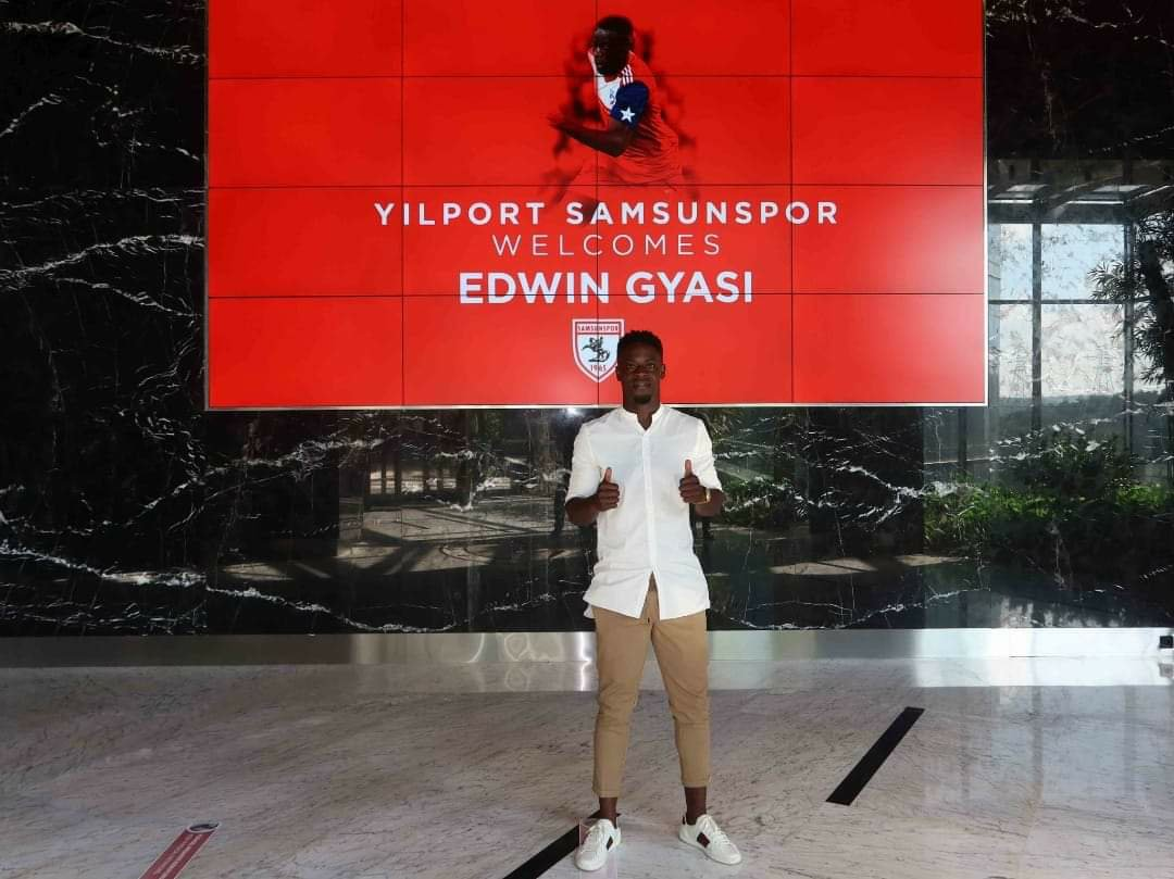 Turkish side Yilport Samsunspor announce signing of Ghana winger Edwin Gyasi