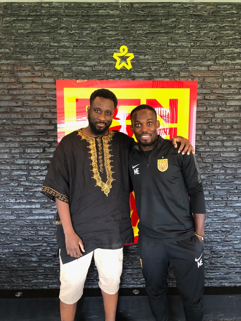 Kwaku Mensah was with Michael Essien when he signed his deal with Nordsjaelland