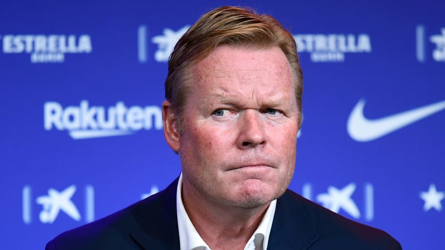 Ronald Koeman reads statement & refuses questions in bizarre Barcelona press conference