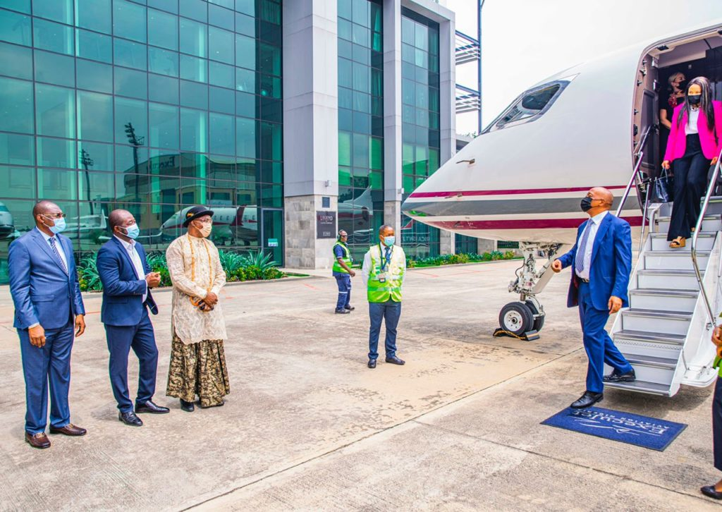 Africa FA presidents meeting Motsepe on arrival in Lagos