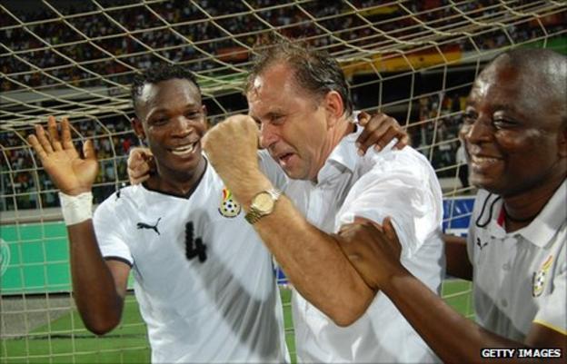 Rajevac made history with Ghana