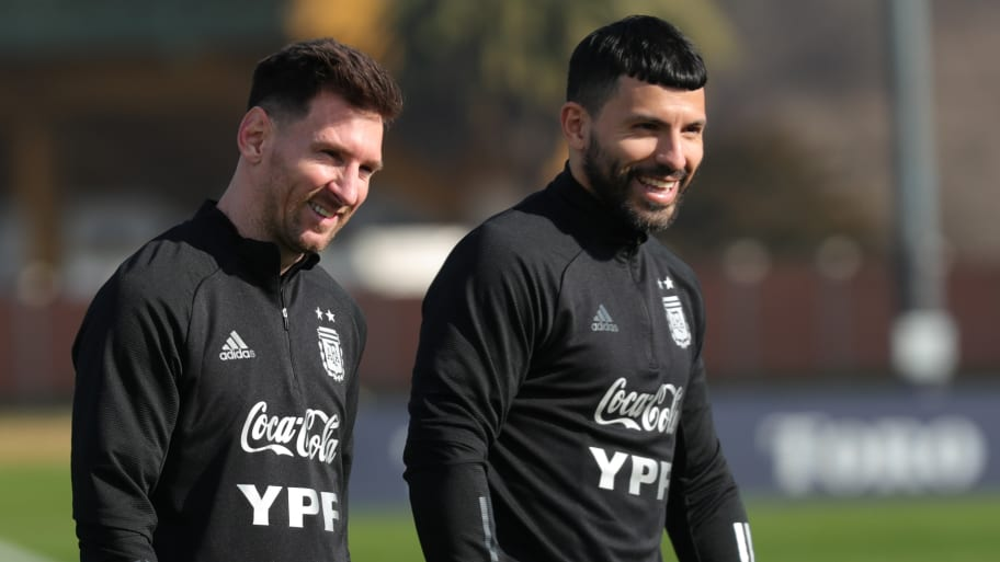 Sergio Aguero reveals how he reacted to Lionel Messi's Barcelona exit